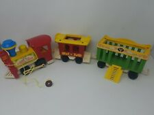 Vintage Fisher Price Little People Play Family Circus Train 991