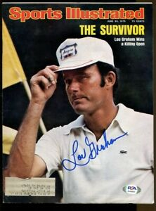 Lou Graham Signed 1975 Sports Illustrated 6/30 Autographed US Open PSA/DNA