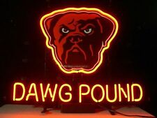 """New Cleveland Browns Dog Dawg Pound Beer Pub Bar Neon Sign 13""""X8"""" NT38S"""