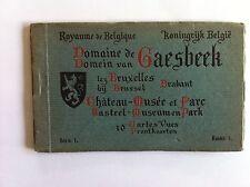 Domaine GAESBEEK Chateau Parc Musée Carnet 10 Cartes Postales série 1 XXème