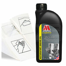 Engine Oil Top Up 1 LITRE Millers NANODRIVE CFS 10w60 NT 1L +Gloves,Wipes,Funnel