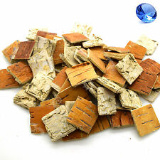 25 pcs Birch Tree Bark Squares Wooden Shapes Crafts Home Venue Rustic Decoration