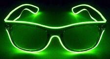 Lime Green Light Up Wayfarer Style Sunglasses