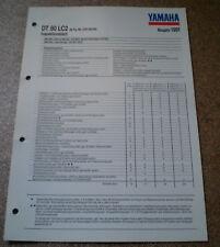Inspektionsblatt Yamaha DT 80 LC2 Typ 53V Baujahr 1991