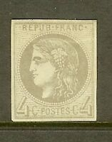 "FRANCE STAMP TIMBRE N° 41B "" CERES BORDEAUX 4c GRIS "" NEUF x TB"
