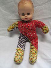 "13"" Vintage 1971 Effanbee 8171 Cloth Body Baby Doll Rubber Head Sleepy Eyes"