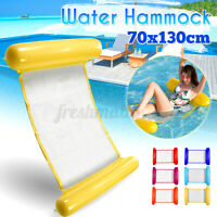Summer Inflatable Floating Water Hammock Float Pool Lounge Bed Swimming  Q