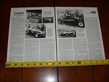 CROSLEY HOT SHOT SPORTS RACE CAR ORIGINAL 1992 ARTICLE