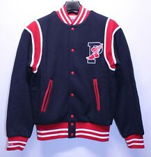 Polo Ralph Lauren Stadium Varsity Jacket 1992 Blue Red White Mens Size Small New