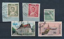 THAILAND SIAM PHIBULMANGSAHAN + PHI POSTMARKS 5 stamps