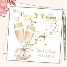 Personalised Birthday Card Female Daughter Mother Sister Friend 21st 40th 50th