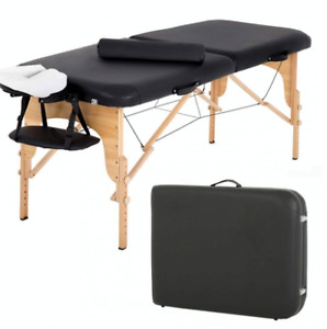 Massage Table Massage Bed Spa Bed 84 Inch Height Adjustable 2 Fold Massage Table
