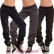 Pantaloni donna funky vita bassa sportivi hip hop casual sport nuovi JS-7715