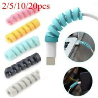 20PCS Soft Protector Saver Cover For Apple iPhone 8 X USB Charger Cable Cord
