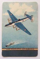Vintage COLES Swap Card - NAMED PLANE - AVRO SHACKLETON - ANTI SUBMARINE