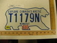2006 NUNAVUT BEAR TRAILER TRL LICENSE PLATE # T1179N 1179 W/ REGISTRATION NICE