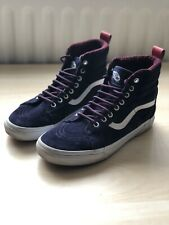 VANS Weatherized Sk8-Hi MTE Evening Blue Shoes | UK 7 | Excellent Condition