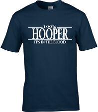 Hooper Surname Mens T-Shirt 100% Gift Name Family Cool Fun