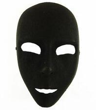 Plain Black Face Mask Fancy Dress Theatre