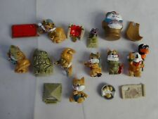 Vintage 90s KINDER SURPRIZE Cairo Cats FERRERO Egyptian Lot CAKE TOPPERS 1 1/2""