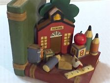 Red School House Bookend For Classroom Or Child'S Room