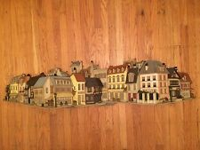 """55"""" Vintage 1970s Cityscape Molded Plastic Painted Wall Plaque Burwood Product"""