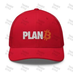Bitcoin Plan B Trucker Cap crypto hodl BTC trading trader gift embroidery hat