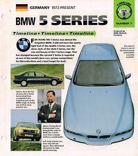 BMW 5 Series Timeline History Brochure;M5,535i,525,M,..