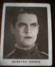 1930s HOLLYWOOD - CHESTER MORRIS, ACTOR - ALLEN'S CURE EM QUICK TRADING CARD