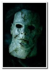 "Halloween Michael Myers Horror Face 12""x8"" Classic Movie Silk Poster New"