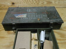 WWII Era Military Sign Painting Engineer Kit Chest RARE 1944