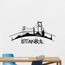 Istanbul Skyline Wall Decal City Vinyl Sticker Art Bedroom Turkey Decor 86hor
