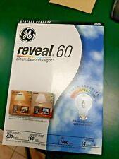 4- GE 60 Watt Reveal Soft White A19 Light Bulbs 48688 The Original