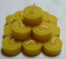 60 St. Teelichter aus 100% Bienenwachs Sparpack Nachfüllpack