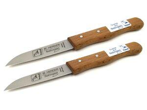 2 Küchenmesser Schälmesser Solingen Obstmesser Gemüsemesser Herder Carbon Set