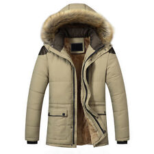 Winter Men's Fashion Down Jacket Warm Thick Fur Collar Outerwear Hooded Coat