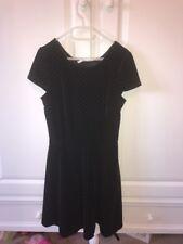 Marks And Spencer Girls Black Velvet Dress Age 11-12 Years