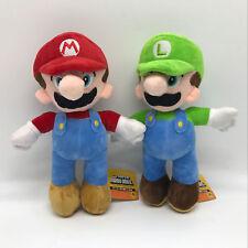 "2X Super Mario Bros. Plush Mario & Luigi Soft Toy Doll Teddy Stuffed Animal 10"""