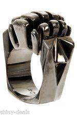 Dominic Jones New Woman Rhodium Statement Metal Dj04 Fashion Jewelry Ring size L