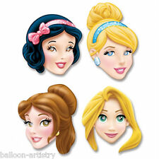 4 Assorted Disney Princess Style Party Birthday Party Paper Character Face Masks