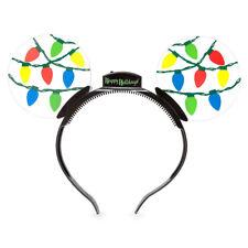 Mickey Disney Light Up Bulb Animated Glow Christmas Holiday Ear Headband NWT