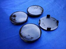 (RH60 Schwarz Sil.) 4x Nabenkappen Felgendeckel 60,0 / 54,5 mm für Alufelge