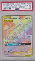 Pokemon Card : PSA 10 Gem Mint LUCARIO & MELMETAL GX 224/214 Unbroken Bonds