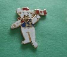 Howdy Holding Canadian Flag - Calgary Mascot Canada 1988 Olympic Lapel Pin New