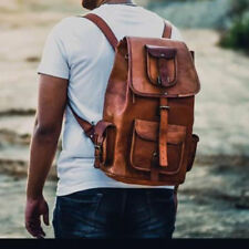 Mens Genuine Vintage Leather Backpack Messenger Man HandBag Laptop Briefcase Bag