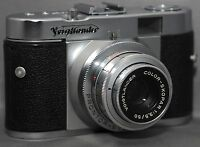 VOIGTLANDER VITO B 35mm Film Camera SKOPAR f/3.5 50mm Lens AS IS for Parts