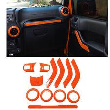 Orange Interior Decoration Panel Cover Trim Set Kit For Jeep Wrangler JK JKU #ya