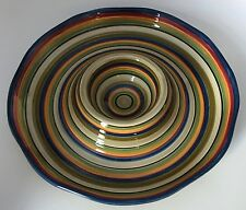Tabletops Gallery Los Colores Chip And Dip Serving Platter