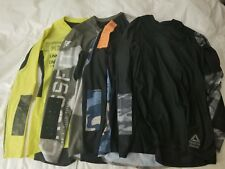 Lot of 4 Reebok Men's Crossfit Long Sleeve Compression Shirts Medium