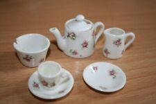 Very old vintage antique miniature tea set porcelain with roses
